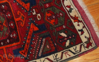 Handmade antique collectible Turkish Yastik rug 2' x 3,6' (61cm x 110cm) 1890s - 1B487