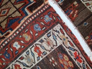 Handmade antique Persian Kurdish rug 3' x 7' ( 92cm x 214cm ) 1900s - 1C385