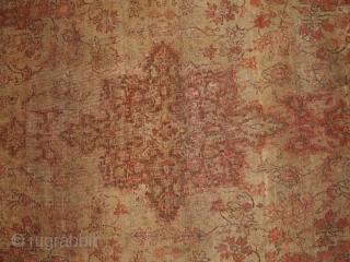 #1B155  Hand made antique Turkish Sivas rug 4.2' x 6.1' ( 128cm x 186cm) 1900.C