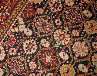 Handmade antique Caucasian Karabagh rug 5.6' x 10.6' (170cm x 323cm) 1880s - 1B490