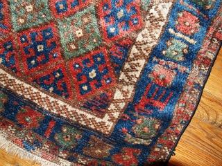 1B321  Hand made antique collectible Persian Kurdish bag face 1.11' x 2.1' ( 61cm x 64cm ) 1880.C