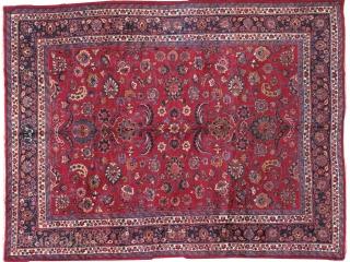 #1B461  Hand made antique Persian Mashad rug 8.7' x 11' ( 265cm x 335cm ) 1910.C