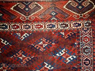 #1C310  Handmade antique Turkoman Yomud rug 6.4' x 10.9' ( 195cm x 333cm ) 1880.C