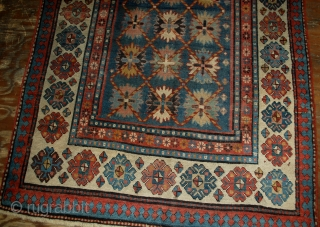 Handmade antique Caucasian Talish rug 4.3' x 8.9' ( 131cm x 271cm ) 1880s - 1B514