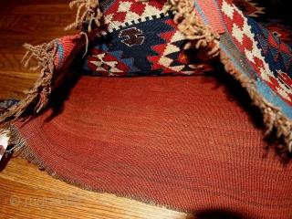 #1B329  Hand made antique collectible Caucasian Kuba bag 1.10' x 2' ( 59cm x 61cm) 1880.C