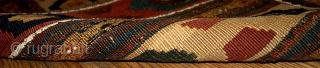 #1B360 Caucasian flatwoven mafrash panel 1.4' x 2.8' 1880, original good condition.