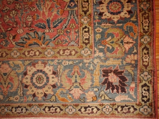#1B143  Handmade antique Indian Loristan rug 5.8' x 8.8' ( 176cm x 268cm ) 1880.C