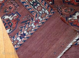 Handmade antique Turkmen Yomud rug 2.6' x 3.5' ( 81cm x 106cm ) 1880s - 1B601
