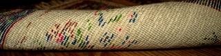 #1B364 antique collectible Armenian rug 1.3' x 1.4' 1908,in original good condition.