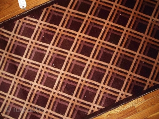 #1B389  Hand made antique Art Deco Chinese rug 3' x 4.10' ( 91cm x 150cm ) C.1920s