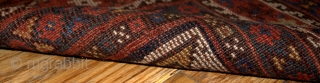#1B193  Handmade antique Persian Khamseh rug 6' x 9' ( 183cm x 275cm) 1880.C