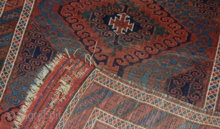 #1E02  Antique Afghan Baluch rug 2.5' X 5.10' ( 76cm X 181cm) 1900