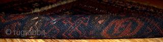 #1B340  Handmade antique collectible Afghan Baluch bagface 1.7' x 1.11' ( 52cm x 59cm ) 1880.C