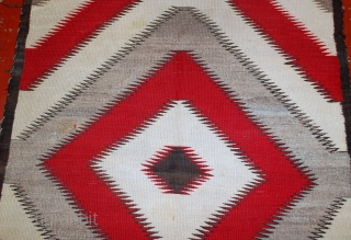 #1E03  Hand made antique Native-American Navajo rug 2.10'X 4.10' ( 89cm X 150cm )