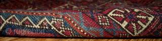 #1B173  Hand made antique collectible Turkoman Saryk rug 4' X 5.2' ( 122cm X 158cm ) C.1850