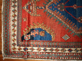 #1B430  Hand made antique Persian Karadjeh runner 2.10' x 8.10' ( 89cm x 272cm ) C.1920