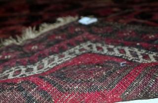 #1C502  Handmade antique Afghan Baluch rug 4' x 5.6' ( 122cm x 172cm ) 1910.C