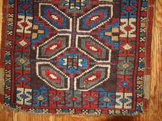 #1B349  Handmade antique collectible Turkish Yastik rug 1.5' x 3' ( 45cm x 91cm ) 1880.C