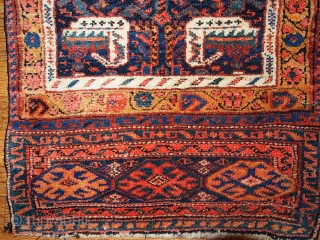 #1B354 Handmade antique collectible Persian Kurdish bag face 1.9' x 2.6' ( 58cm x 79cm ) 1880.C