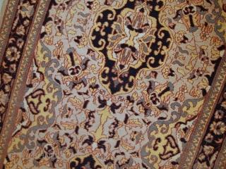 #1C350  Hand made vintage Pakistani Lahore rug 3,1' x 5' ( 95cm x 154cm ) C.1970