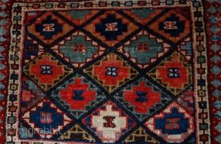 #1B565  Hand made antique collectible Persian Jaf Kurdish bag face 1.4' x 1.6' ( 43m x 49cm) 1880.C