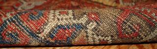 #1B417  Hand made antique Persian Kurdish rug 3' x 5.9' ( 91cm x 179cm ) 1870.C