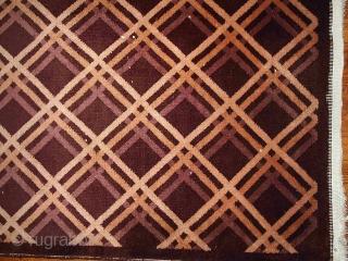 #1B389  Handmade antique Art Deco Chinese rug 3' x 4.10' ( 91cm x 150cm ) 1920.C