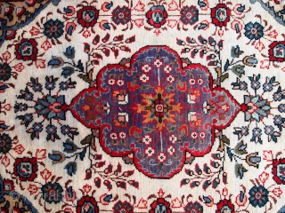 #1C211  Hand made vintage Persian Malayer rug 3.3' x 4.7' ( 100cm x 143cm ) C.1970