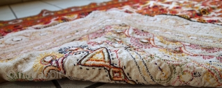 #1C428  Hand made vintage Indian wall hanging embroidered tapestry 3.1' x 5.5' ( 95cm x 170cm ) 1950.C