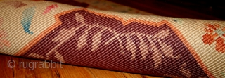#1B397  Handmade antique Art Deco Chinese rug 2.2' x 3.11' ( 67cm x 121cm ) 1920.C