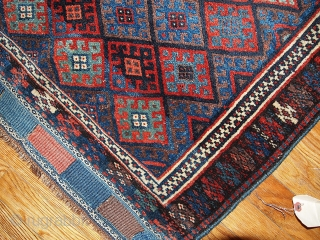"#1B319 Antique collectible Persian ""Kurdish"" bag face 2.4' x 2.6' 1880, in original good condition."