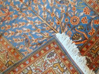 #1C297  Hand made antique prayer Turkish Kayseri rug 3' x 4.6' ( 93cm x 140cm ) C.1940