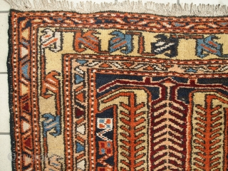 #1C284  Hand made antique Persian Heriz runner 3.4' x 13.6' ( 105cm x 416cm ) 1930.C