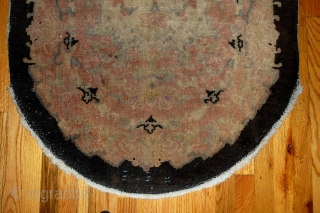#1B411  Handmade antique Art Deco Chinese rug 2.10' x 4.9' ( 89cm x 149cm ) 1920.C