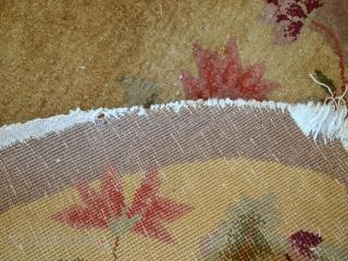#1C333 Handmade antique Art Deco Chinese rug 2,4' x 4,2' ( 75cm x 129cm) 1920.C