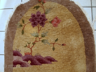 #1C333 Handmade antique Art Deco Chinese rug 2,4' x 4,2' ( 75cm x 129cm) 1920.C