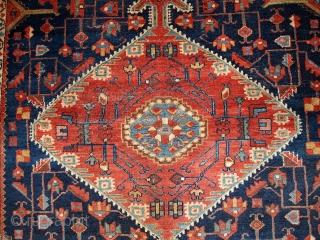 #1B421  Handmade antique Persian Malayer rug 4.10' x 7.3' ( 150cm x 222cm ) 1920.C