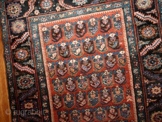#1B435  Hand made antique Persian Bakshaish runner 3.2' x 10.4' ( 97cm x 317cm ) C.1880