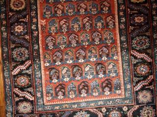 #1B435  Hand made antique Persian Bakshaish runner 3.2' x 10.4' ( 97cm x 317cm ) C.1880