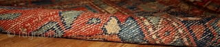 #1B429  Handmade antique Persian Lilihan runner 3.3' x 10.2' ( 100cm x 310cm ) 1920.C