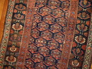 #1B431  Handmade antique Persian Kurdish runner 3.3' x 11.7' ( 100cm x 356cm ) 1900.C