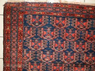 #1C352  Handmade antique Persian Malayer rug 4.5' x 6.8' ( 135cm x 207cm ) 1920.C