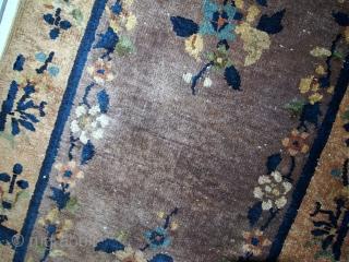 #1C354  Handmade antique Art Deco Chinese rug 2.2' x 3.7' ( 67cm x 114cm) 1920.C