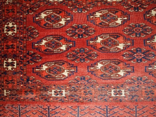 #1B337 Turkoman Kizyl Ayak chuval 2.10' x 4.4' 1880, in original condition: end missing.