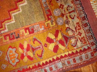 #1B433  Hand made antique Turkish Anatolian rug 4' x 6.3' ( 122cm x 192cm ) 1910.C