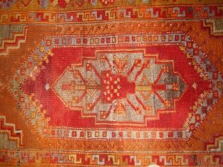 #1B433 Handmade antique Turkish Anatolian rug 4' x 6.3' ( 122cm x 192cm ) 1910.C