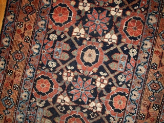 #1B438  Handmade antique Persian Hamadan runner 3' x 13' ( 91cm x 396cm ) 1900.C