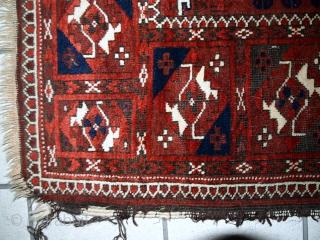 #1C357  Handmade antique Afghan Baluch rug 3.3' x 5.6' ( 100cm x 170cm ) 1900.C