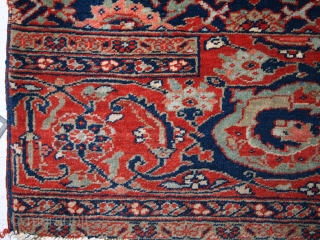 #1C358  Handmade antique collectible Persian Bidjar Vagireh rug 1.5' x 2' ( 47cm x 61cm ) 1900.C