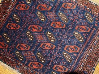 #1B340 Balouch bag face 1.7' x 1.11' 1880, in original good condition.